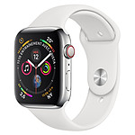 Apple Watch Series 4 (argent - blanc) - Cellular - 44 mm