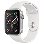 Apple Watch Series 4 (argent - blanc) - GPS - 44 mm