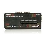 StarTech.com Kit commutateur noir KVM USB 4 ports avec audio