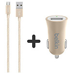 Belkin Pack chargeur allume cigare + câble micro USB
