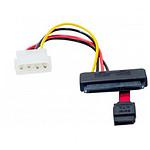 Câble Molex / SATA (données et alimentation) 20 cm