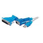 Adaptateur USB vers DB9/DB25 (série RS 232)
