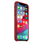 Apple Coque Leather Case iPhone XS (rouge)