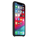 Apple Coque Leather Case iPhone XS (noir)
