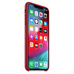 Apple Coque Leather Case iPhone XS Max (rouge)