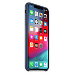 Apple Coque Leather Case iPhone XS Max (bleu nuit)