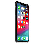 Apple Coque Leather Case iPhone XS Max (noir)