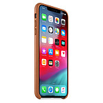 Apple Coque Leather Case iPhone XS Max (havane)