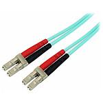 Jarretiere fibre optique OM3 50/125 LC-LC Turquoise- 1 m