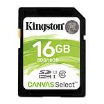 Kingston SDHC 16 Go Canvas Select (80 Mo/s)
