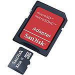 SanDisk microSDHC 32 Go + Adaptateur SD