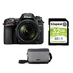 Nikon D7500 + AF-S DX 18-140 VR + Carte SD Kingston 32 GO + Sacoche Nikon CF-EU11