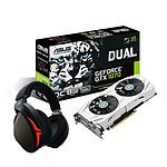 Asus GeForce GTX 1070 Dual OC + Strix Fusion 300