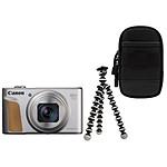 Canon PowerShot SX740 HS Silver + Etui + Gorillapod