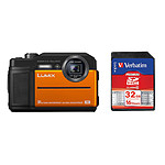 Panasonic DC-FT7 Orange + Carte SD Verbatim 32 GO