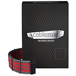 CableMod PRO ModMesh C-Series AXi, HXi & RM Cable Kit - Carbone / Rouge