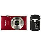 Canon Ixus 185 Rouge + Etui Vanguard Beneto 6 Noir
