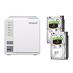 QNAP NAS TS-328 - 2 Go + Pack de 2 Seagate IronWolf - 3 To