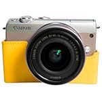 Canon EOS M100 Argent + EF-M 15-45 mm + Etui Jaune