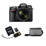 Nikon D7200 + AF-S DX 18-140 VR + Carte microSD Kingston 16 GO avec adaptateurs + Sacoche CF-EU11