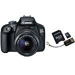 Canon EOS 4000D + 18-55mm IS Noir + Carte microSD Kingston 16 GO + Adaptateur SD et USB