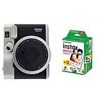 Fujifilm Instax MINI 90 Neo Classic Noir + Film Instax Mini Bipack
