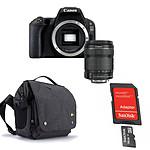 Canon EOS 200D + 18-135 IS STM + Carte microSD Sandisk 16 GO avec adaptateur SD + Caselogic FLXM 101 Antharcite