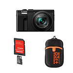Panasonic Lumix DMC-TZ80 Noir + Carte microSD Sandisk 16 GO avec adaptateur SD + Vanguard Beneto 6 Orange