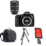 Canon EOS 80D + EF-S 18-200mm f/3.5-5.6 IS + Carte microSD Sandisk 16 GO avec adaptateur SD + Trépied Manfrotto 290 Light + Caselogic FLXM 101 Antharcite