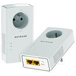 Netgear PLP2000 - Pack de 2 CPL 2000 (prise intégrée)
