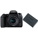 Canon EOS 77D + 18-55 IS STM + Batterie LP-E17