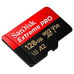 SanDisk Extreme Pro microSDXC UHS-I U3 V30 A2 128 Go + Adaptateur SD