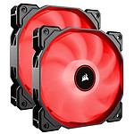 Corsair Air Series AF140 Low Noise - Rouge (Pack de 2)