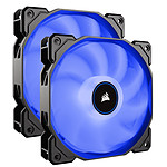 Corsair Air Series AF140 Low Noise - Bleu (Pack de 2)