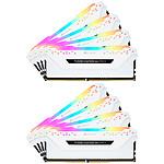 Corsair Vengeance RGB Pro DDR4 8 x 8 Go 3000 MHz CAS 15 Blanche