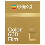 Polaroid Color 600 Film (cadre or)