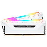 Corsair Vengeance RGB PRO DDR4 2 x 8 Go 3000 MHz CAS 15 Blanche