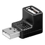 Adaptateur USB 2.0 type A mâle / type A femelle (coudé 90°)