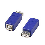 Adaptateur USB 2.0 type A femelle / B femelle