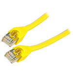 Câble RJ45 catégorie 6 S/FTP 0.5 m (Jaune)