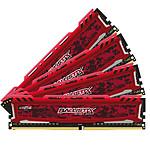 Ballistix Sport LT RED DDR4 4 x 8 Go 2400 MHz DR