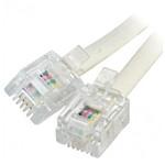 Câble RJ11 mâle/mâle pour ligne ADSL 2+ (10 mètres) - (coloris beige)