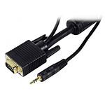 Câble VGA + Jack mâle / mâle (1.8 mètre)