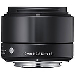 SIGMA 19mm F2.8 DN Noir monture Micro 4/3