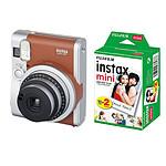 Fujifilm Instax MINI 90 Neo Classic Marron + Film Instax Mini Bipack