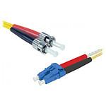 Jarretière optique duplex monomode 2mm OS2 LC-UPC/ST-UPC (1 mètre)