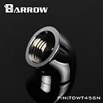 BARROW TDWT45SN-V2 - Coude 45° femelle vers femelle - Argent