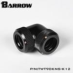 BARROW TWT90KNS-K12 - Embout à 90° pour tube rigide 12mm - Noir