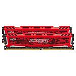 Ballistix Sport LT RED DDR4 2 x 4 Go 2666 MHz CAS 16 SR