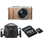Olympus E-PL9 Marron + EZ Pancake 14-42 mm + Kingston microSDHC 8 GO + Lowepro Nova 140 AW II